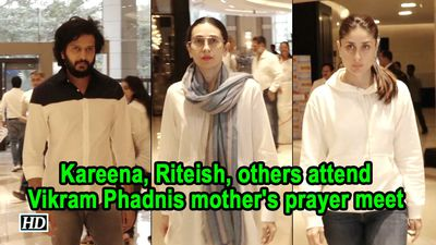 Kareena Riteish others attend Vikram Phadnis mothers prayer meet