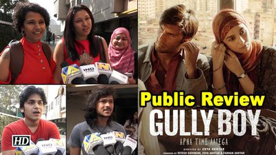 Public Review Gully Boy Rapper Ranveer with fiesty Alia