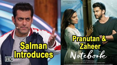 Salman Introduces Debutants Pranutan Zaheers NOTEBOOK
