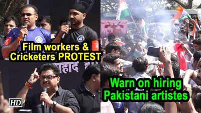 Film workers Cricketers PROTEST Warn on hiring Pakistani artistes