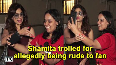 Shamita Shetty trolled for allegedly being rude to fan
