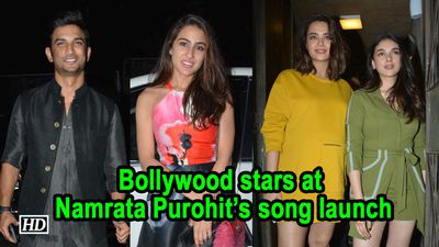 Bollywood stars at celebrity trainer Namrata Purohit song launch