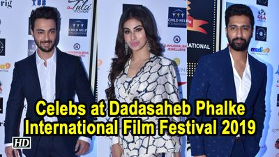 Vicky Kaushal Mouni Roy at Dadasaheb Phalke International Film Festival 2019