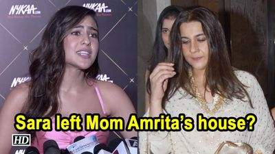 Sara Ali Khan left Mom Amrita Singhs house the actress clears the air