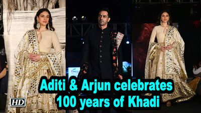 Aditi Rao Hydari Arjun Rampal celebrates 100 years of Khadi