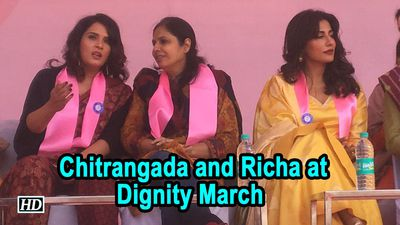 Chitrangada Singh And Richa Chadha at Dignity March
