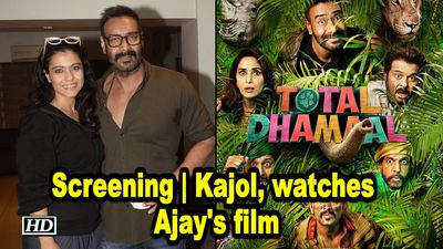 Total Dhamaal screening Kajol Sunny Deol watches Ajay Devgn film