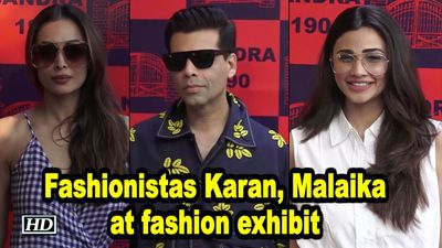 Fashionistas Karan Johar Malaika Arora at fashion exhibit