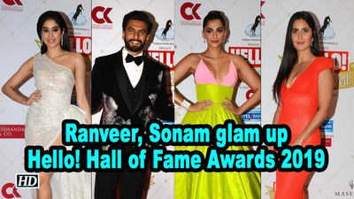 Ranveer Singh Sonam K Ahuja glam up Hello Hall of Fame Awards 2019
