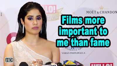Films more important to me than fame Janhvi Kapoor
