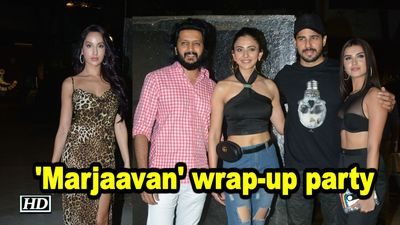 Sidharth Riteish Rakulpreet attend Marjaavan wrapup party