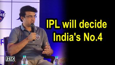 IPL will decide Indias No4 Pant can do job Ganguly
