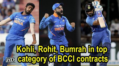 Kohli Rohit Bumrah in top category of BCCI contracts