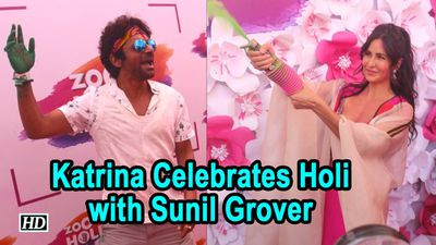 Vibrant Katrina Kaif Celebrates Holi with Sunil Grover Others