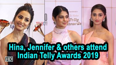 Hina Khan Jennifer Winget and others attend Indian Telly Awards 2019