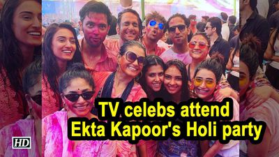 TV celebs attend Ekta Kapoors Holi party