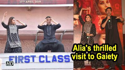 Alias thrilled visit to Gaiety for Varuns FIRST CLASS Kalank