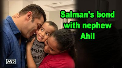 Salmans bond with nephew Ahil