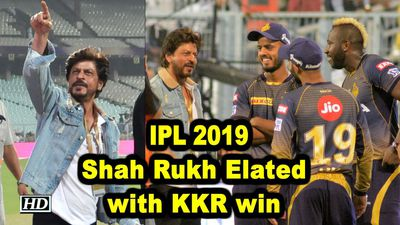 Shah Rukh Elated with KKR win against SRH IPL 2019