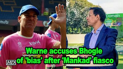 IPL 2019 Warne accuses Bhogle of bias after Mankad fiasco
