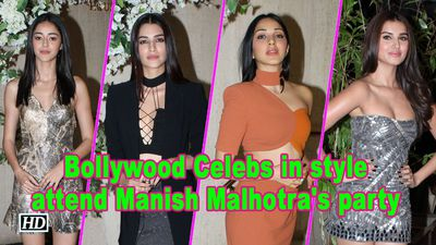 Bollywood Celebs in style attend Manish Malhotras party