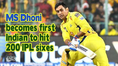IPL 2019 MS Dhoni becomes first Indian to hit 200 IPL sixes