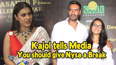 Kajol tells Media You should give Nysa a Break