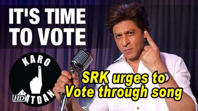 SRK spreads message about voting through song