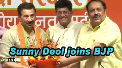 Bollywood actor Sunny Deol joins BJP