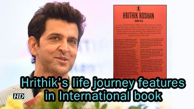 Hrithiks BIGESST RECOGNITION his life features in International book