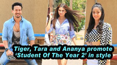 Tiger Tara and Ananya promote Student Of The Year 2 in style
