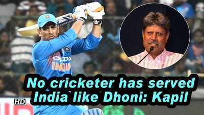 No cricketer has served India like Dhoni Kapil