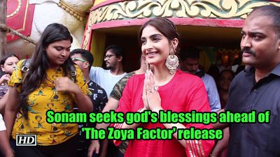 Sonam seeks gods blessings ahead of the zoya factor release