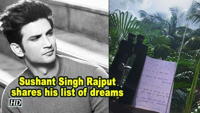 Sushant singh rajput shares his list of dreams