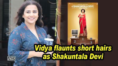 Vidya sports short hair as Shakuntala Devi