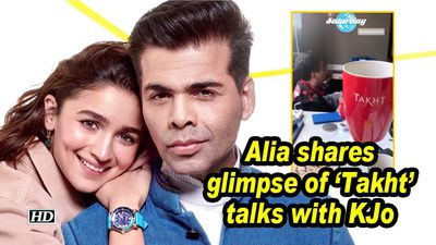 Alia shares glimpse of 'Takht' talks with KJo