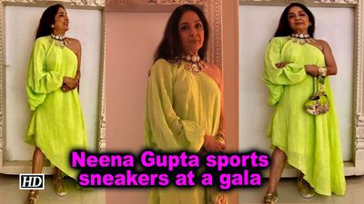 Neena Gupta sports sneakers at a gala