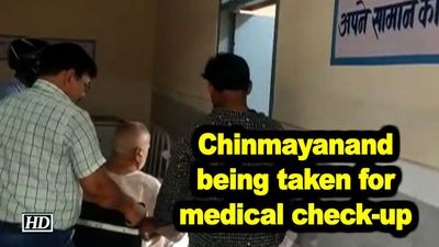 Chinmayanand being taken for medical check-up