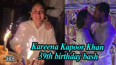 Kareena kapoor khan 39th birthday bash saifeena shares intimate kiss