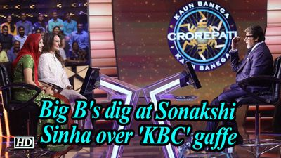Big bs dig at sonakshi sinha over kbc gaffe