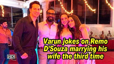 Varun jokes on remo dsouza marrying his wife the third time