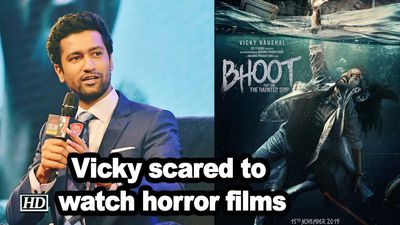 Vicky kaushals scared to watch horror films