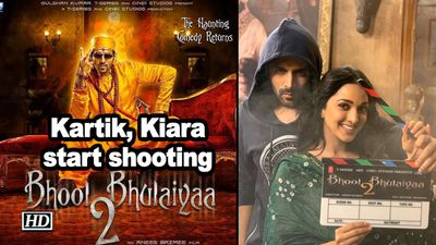 Kartik kiara start shooting for bhool bhulaiyaa 2