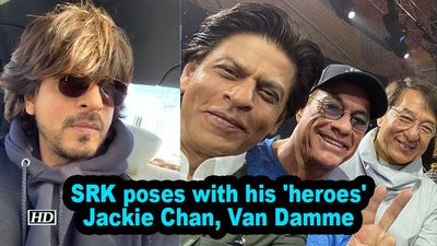 Srk poses with his heroes jackie chan van damme