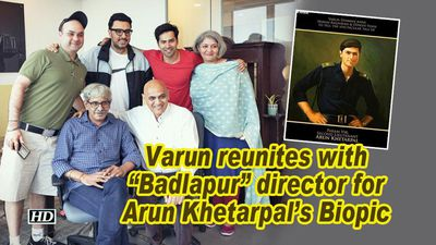 Varun dhawan reunites with badlapur director for arun khetarpals biopic