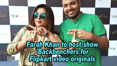 Farah khan to host show backbenchers for flipkart video originals