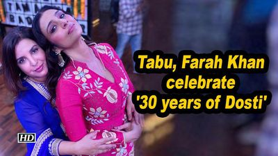 Tabu farah khan celebrate 30 years of dosti