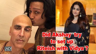 Did akshay kumar try to set up riteish with vidya balan
