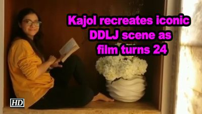Kajol recreates iconic ddlj scene as film turns 24