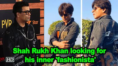 Shah rukh khan looking for his inner fashionista